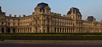 The Louvre panoram Stock Photos