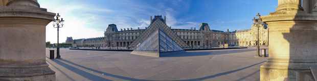 Louvre panorama Stock Photo