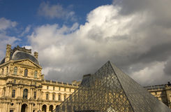 Louvre Parijs Royalty-vrije Stock Afbeeldingen