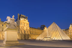 Louvre in Paris. Louvre museum in paris at night Royalty Free Stock Photos