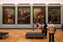 Louvre, Paris. PARIS - JULY 22: Rubens paintings on July 22, 2011 in Louvre Museum, Paris, France. With 8,5m annual visitors, Louvre is consistently the most