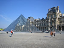 Louvre in Paris Stock Photos