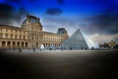 Louvre-Paris Royaltyfri Fotografi