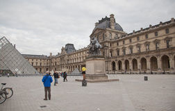 The Louvre in Paris Stock Photos