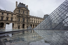 Louvre in Paris, France Royalty Free Stock Photo