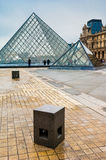The Louvre, Paris. Paris, France. November 12, 2005. Pyramid entrance to the Louvre museum Royalty Free Stock Photos