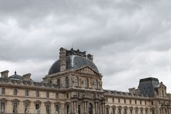 The Louvre in Paris, France Royalty Free Stock Photos