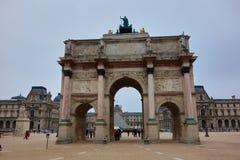 The Louvre, Paris, France. PARIS, FRANCE - SEPTEMBER 18, 2016: View of the Louvre in France, Paris. The Louvre is one of Paris` most famous landmarks Royalty Free Stock Image
