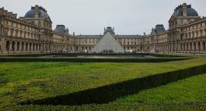The Louvre, Paris, France. PARIS, FRANCE - SEPTEMBER 18, 2016: View of the Louvre in France, Paris. The Louvre is one of Paris` most famous landmarks Stock Photos
