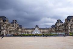 Louvre, Paris, Frankrike Royaltyfri Bild