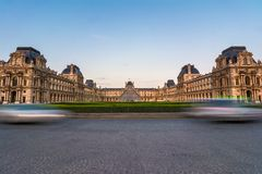The Louvre - Paris landmark Stock Images
