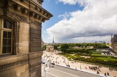 Travel to Europe. Sights of the European city. The Louvre in Paris, the largest museum in the world. Louvre Pyramid. Travel through Europe. Attractions in France Stock Photography