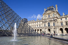 The Louvre in Paris Stock Photo