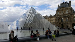 Louvre Paris pyramid. Louvre with his pyramid out of glas royalty free stock image