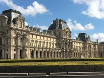 The Louvre Paris. View of The Louvre in Paris Stock Image