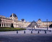 The Louvre, Paris. Royalty Free Stock Photo