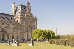 Louvre Paryż, Francja - Obrazy Royalty Free