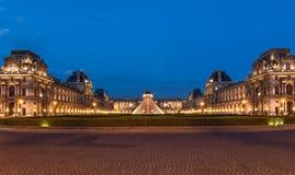 Louvre - Paryski punkt zwrotny obraz royalty free