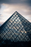 Louvre Pyramid Royalty Free Stock Photos