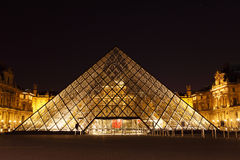 Louvre Pyramid Stock Image