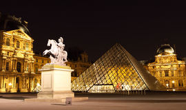 Louvre Pyramid Royalty Free Stock Images