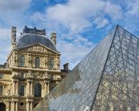 Louvre and Pyramid Stock Photos