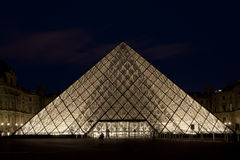 Louvre, Pyramid, France Stock Photo