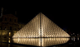 Louvre, Pyramid, France Royalty Free Stock Photography