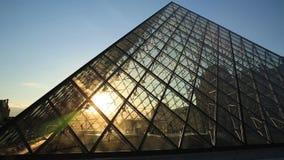 Louvre pyramid Hyperlapse stock footage