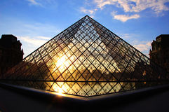 Louvre Pyramid II Royalty Free Stock Images