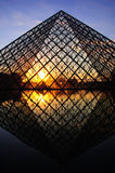 Louvre Pyramid III Royalty Free Stock Photography