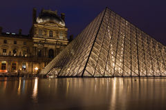 Louvre Pyramid Museum Royalty Free Stock Photo