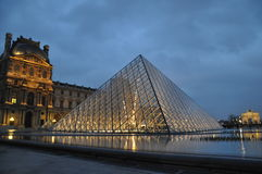 Louvre. Pyramid museum in paris france royalty free stock image