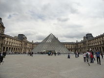 The Louvre Pyramid Royalty Free Stock Images