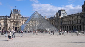 Louvre Pyramid Royalty Free Stock Photography