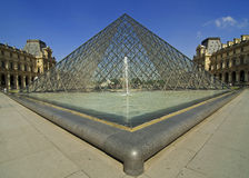The Louvre Pyramid, Paris Stock Photography