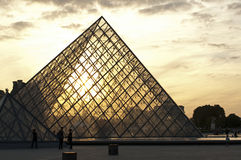 Louvre Pyramid, Paris Stock Photo