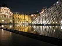 Louvre Pyramid in Paris. France at night on the 22nd September 2007 Royalty Free Stock Photography