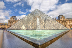 Louvre Pyramid. Paris, France. Stock Images