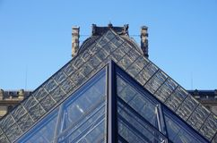 The Louvre Pyramid in Paris Royalty Free Stock Image