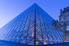 The Louvre Pyramid, Paris, France. Royalty Free Stock Photography