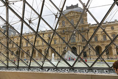 Louvre pyramid - Paris Stock Image