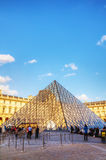 The Louvre Pyramid in Paris Stock Photography