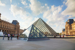 The Louvre Pyramid in Paris Royalty Free Stock Photography