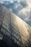 Louvre Pyramid perspective Royalty Free Stock Photography