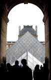 Louvre Pyramid Royalty Free Stock Photo