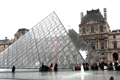 Louvre Pyramid Stock Image