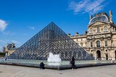 Louvre Pyramid Pyramide du Louvre, Parigi Fotografia Stock