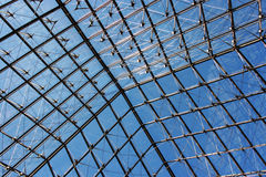 Louvre pyramid's roof Royalty Free Stock Images