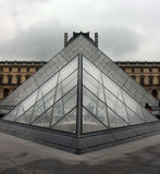 The Louvre Pyramid Stock Images